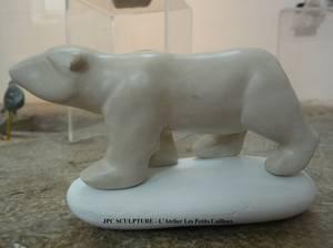L'ours, argile blanche - Prix 70 Euros