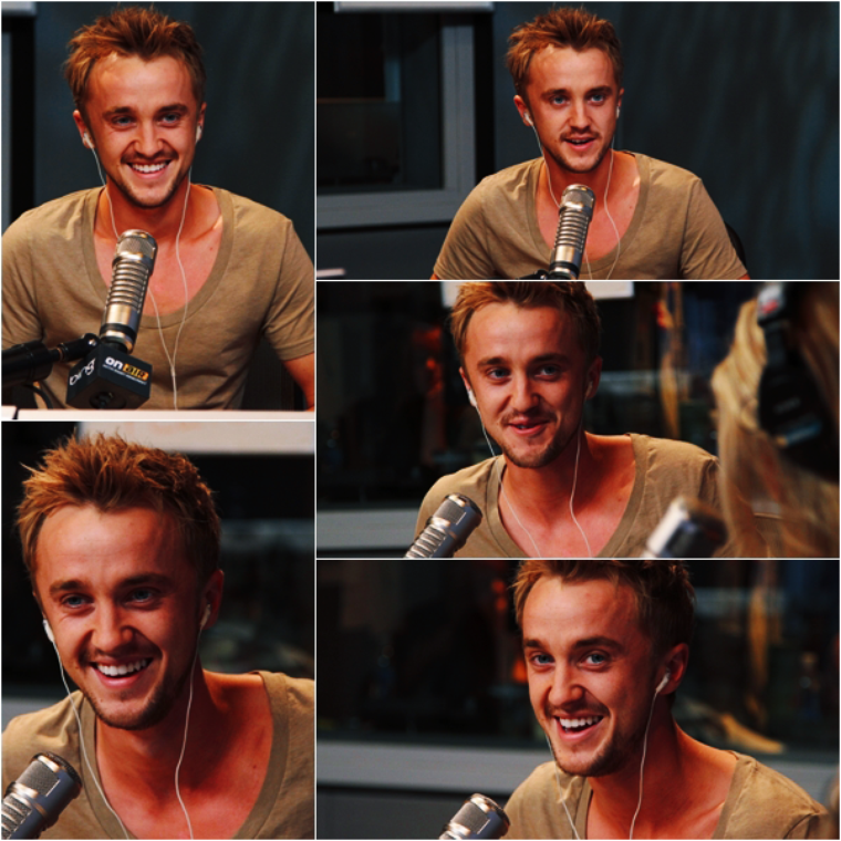 "Tom Felton au studio ""On Air with Ryan Seacrest"""