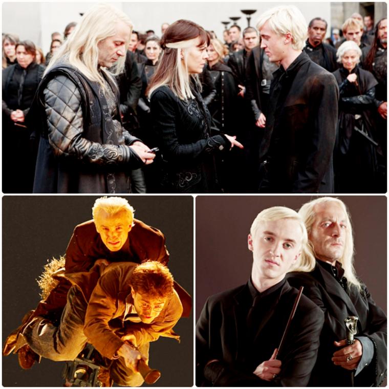 Nouvelles photos sur le tournage d'Harry Potter et les Reliques de la Mort et photoshoot père et fils Malefoy