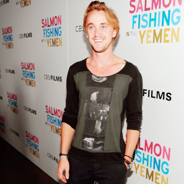 "Tom Felton à l'avant première de ""Salmon Fishing in the Yemen"""