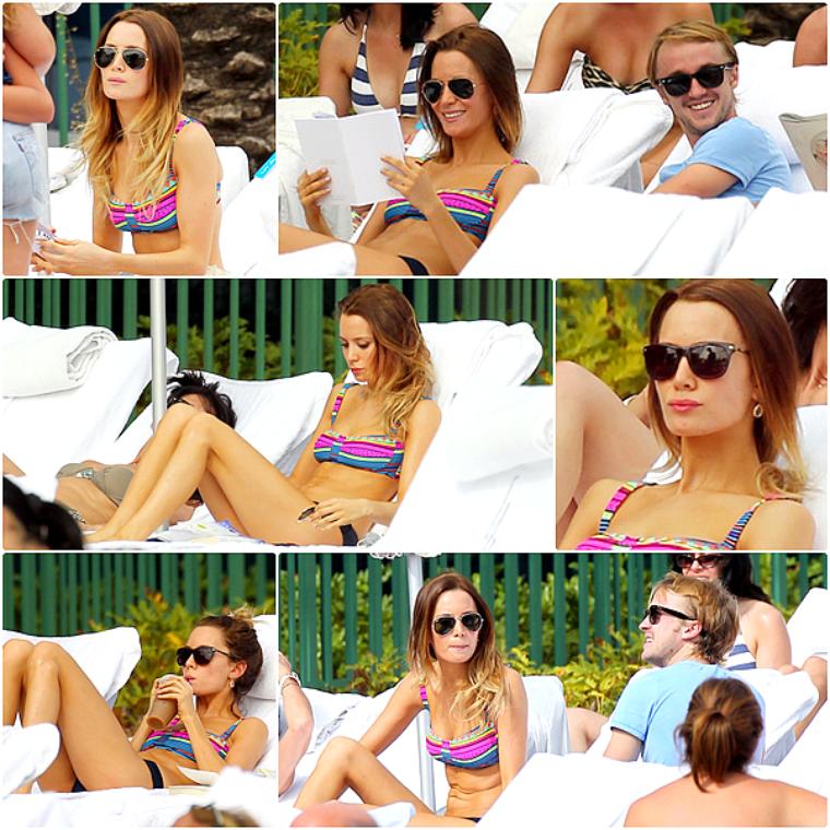 Tom Felton à la piscine à Miami, le 29 Décembre 2012