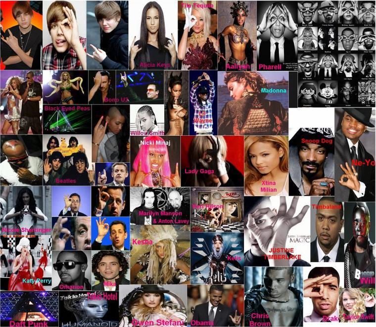 Tout les chanteurs (ou autres) faisent parti des Illuminatis