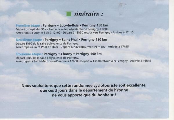 "1er Tour ""cyclotourisme"" de l'Yonne !"