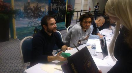VF : Bruno Choël (Grindelwald) et Théo Frilet (Norbert Dragonneau) à la Nuit des Livres Harry Potter à Deauville (entre autres)