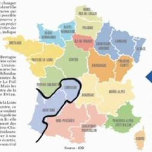 La fusion de l'Aquitaine avec le Limousin