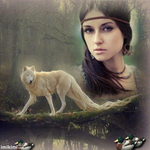 La fille et le loup.