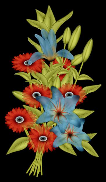 Femme au milieu des fleurs.