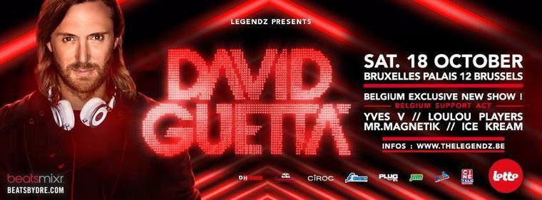 LEGENDZ David Guetta 2014 Palais 12