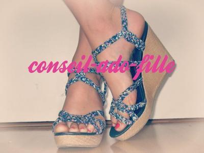 Mes chaussures pour l'été