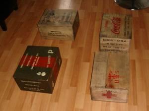 Quelques caisses ...