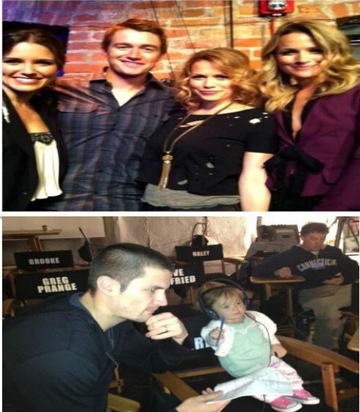 Le cast sur le tournage de la saison 9