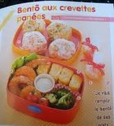 Bento aux crevettes panées