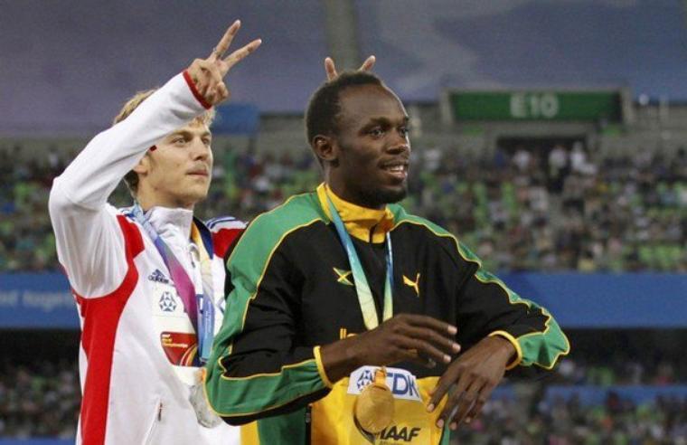 Christophe Lemaître & Usain Bolt