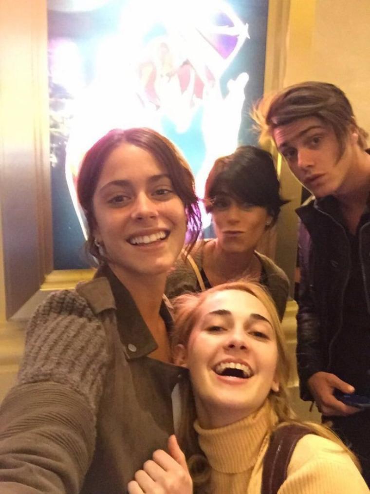 Tini - Las Vegas avec sa famille et Mechi