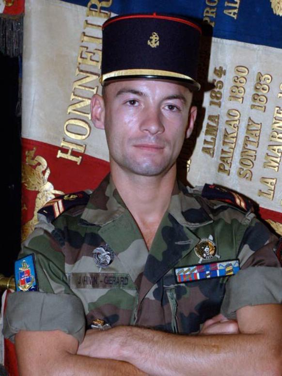 Hommage au  sergent Johann Hivin-Gérard