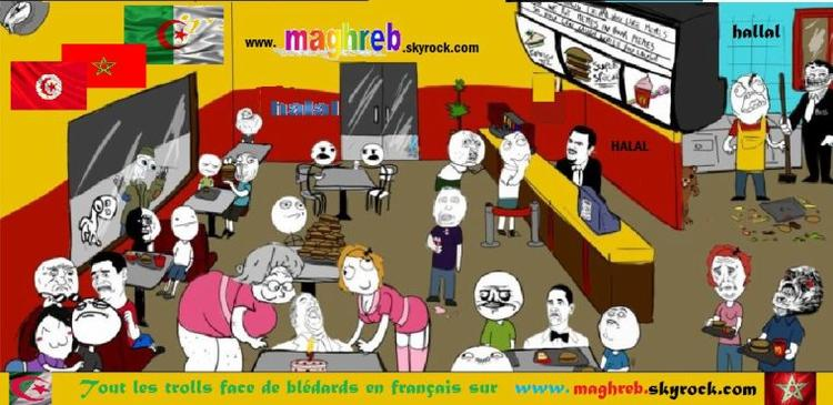 Trolls face arabe,troll face algérie, troll face maroc , troll face tunisie, troll face arabe ,trollface blédar Maghreb