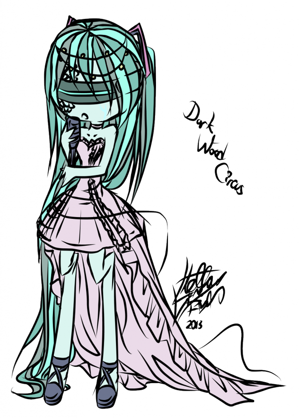 FANART: Miku in Dark Wood Circus