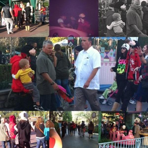 Justin et Selena + rencontre Avalanna Routh + à l'aéroport LaGuardia à New York + a la plage avec Jaxon + à Disneyland
