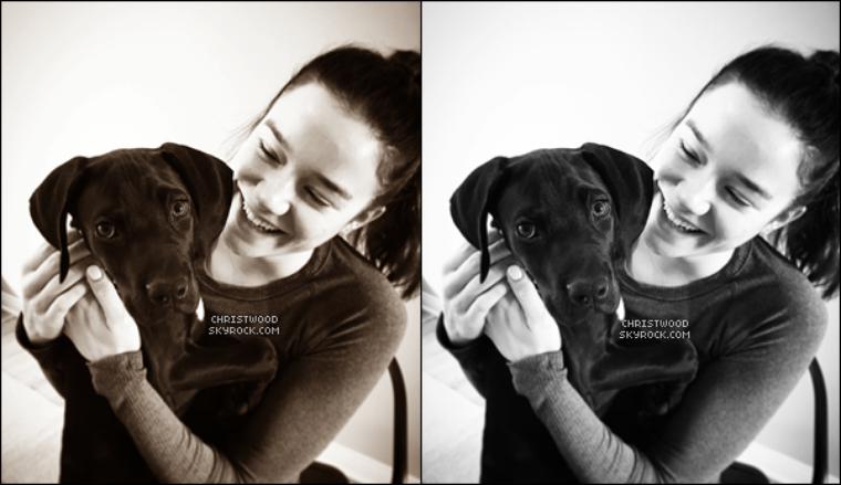 #PHOTOd'Hanna avec Drift, le nouveau chiot de Chris qu'on a découvert pour le nouvel an.