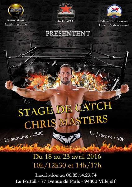 Stage avec Chris Masters.