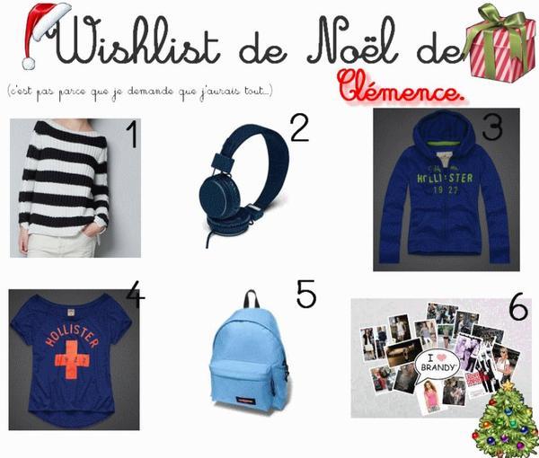 Noël- les Wishlist