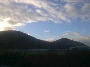 Le ciel bleu et les belles montagne