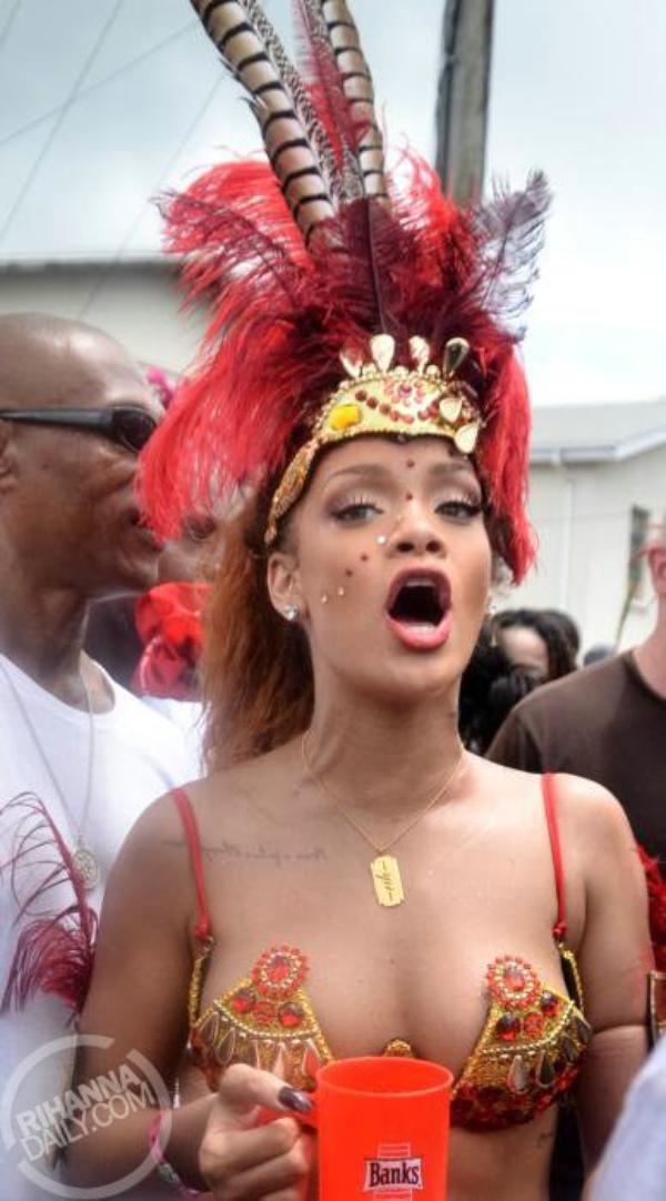 le Crop Over    La star barbadienne Rihanna s'est bien éclatée au Carnaval de Crop Over à Barbados, début Août 2011 cette année.