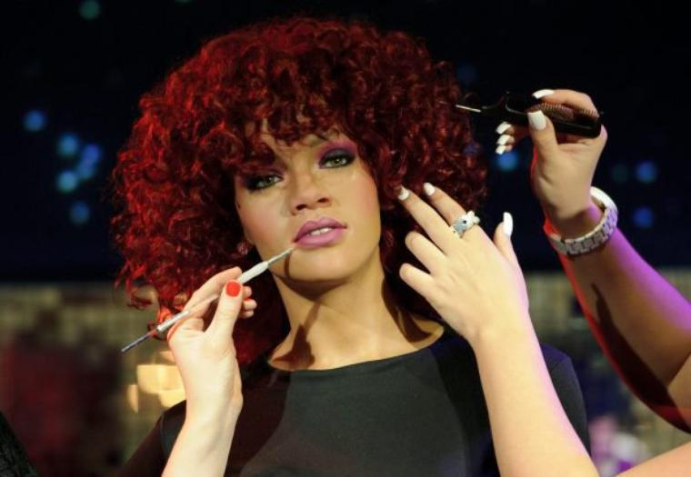 Rihanna au Musée Madame Tussauds de Londres