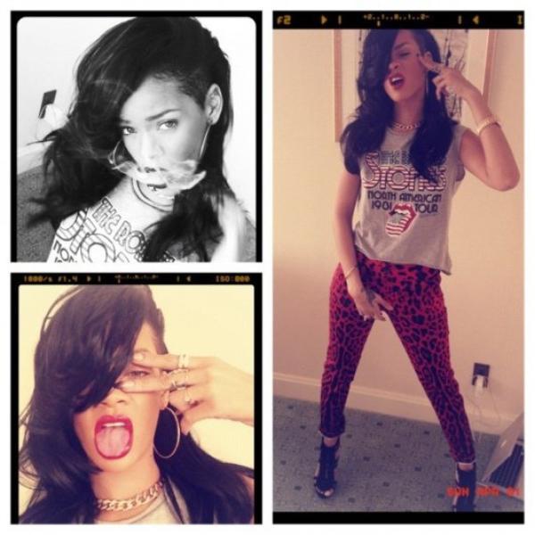PHOTO - Rihanna passe au noir !