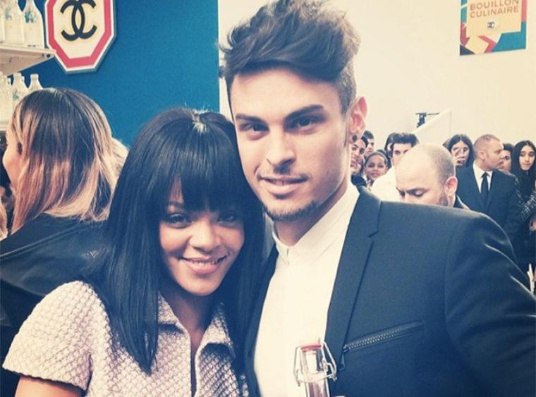 Rihanna et Baptiste Giabioconi