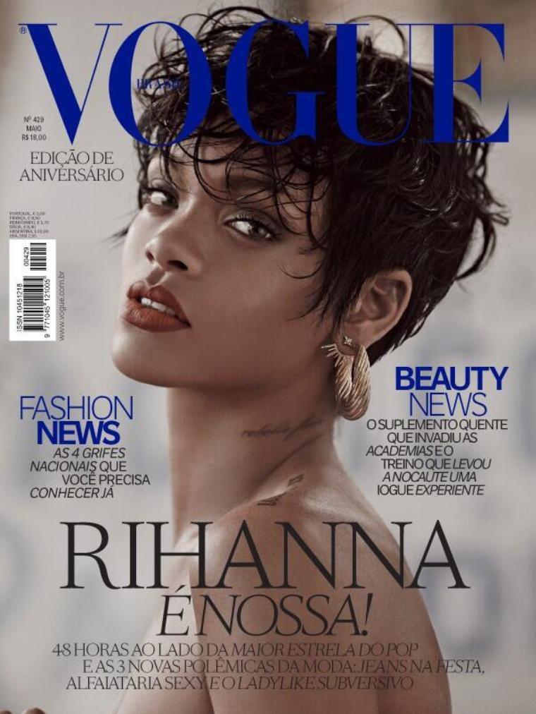 """Rihanna : """"Diamonds"""" a été écrite en 14 minutes , Rihanna en couverture de Vogue Brésil"""