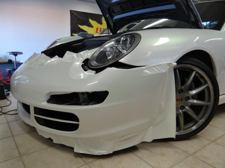 Porsche en préparation covering