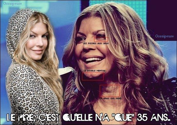 Mémé Fergie just can't get enough !