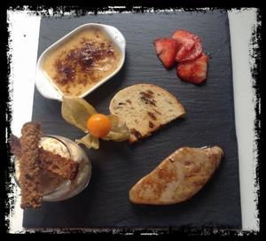 Entrée autour du foie gras