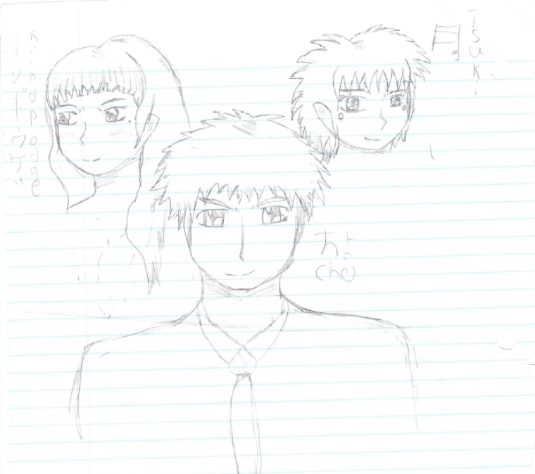 La gang: Cho, Tsuki et Kindpodge