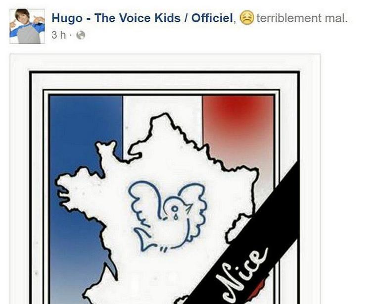 Attentat à Nice ... message de Hugo ...