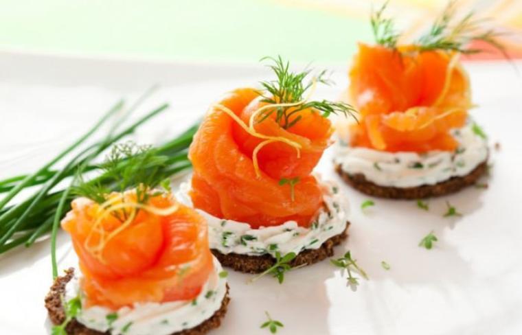 canapés saumon et mascarpone 8-p