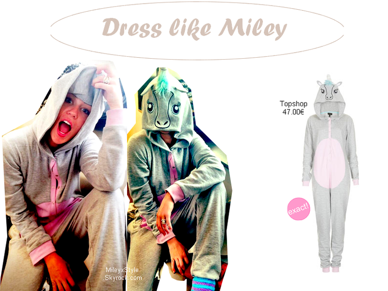 Miley & sa combinaison licorne - Ta source mode/beauté sur Miley Cyrus & Mariannan ...