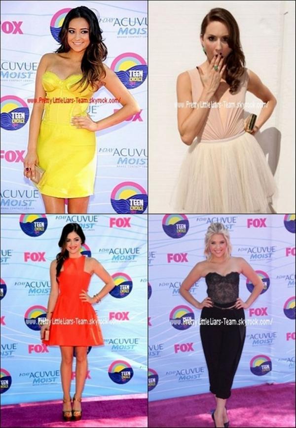 . 22/07/12  Quelques Acteurs de la série étaient présent lors des TEEN CHOICE AWARDS 2012 .