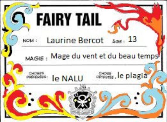 Je suis à Fairy Tail !!! (marque bleu au même niveau que Erza)