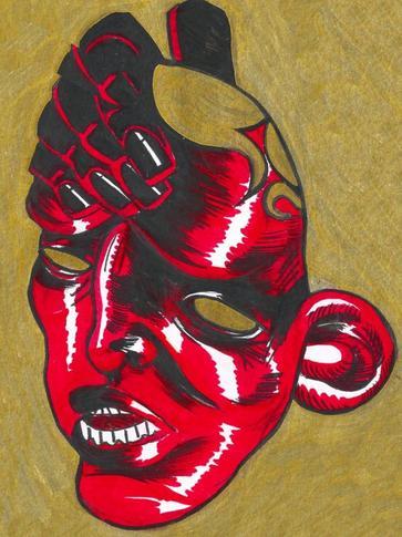 INKTOBER #5 + déclinaison masque
