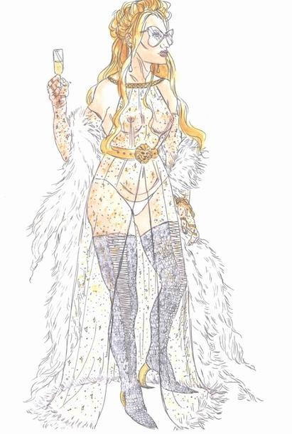 les illustrations finales des costumes de l'incoronazione di poppea ENFIN