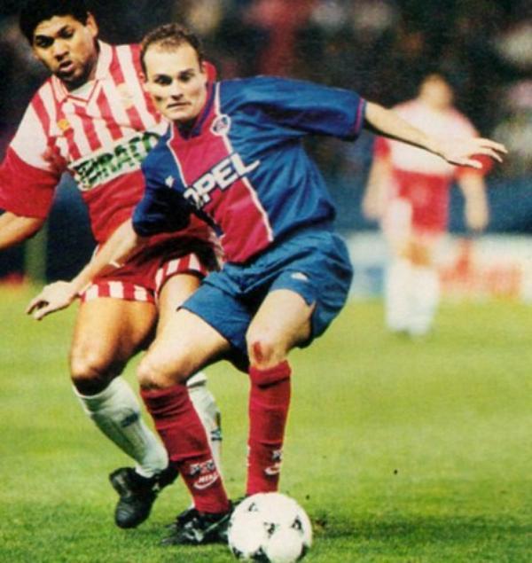 Maillot PSG porté par Vincent Guérin saison 1995 - 1996