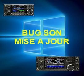 Mise à jour Windows 10 : Blocage audio / Mode numérique IC7610 - IC7300 etc...