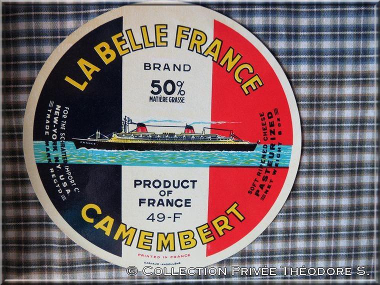 Etiquette, de boite à camembert du FRANCE