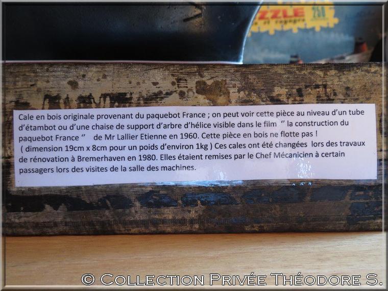 Cale en bois ...du FRANCE !