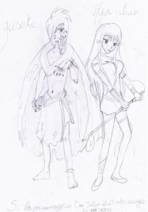 """partie """"DESSIN"""" , I draw manga'Z !"""