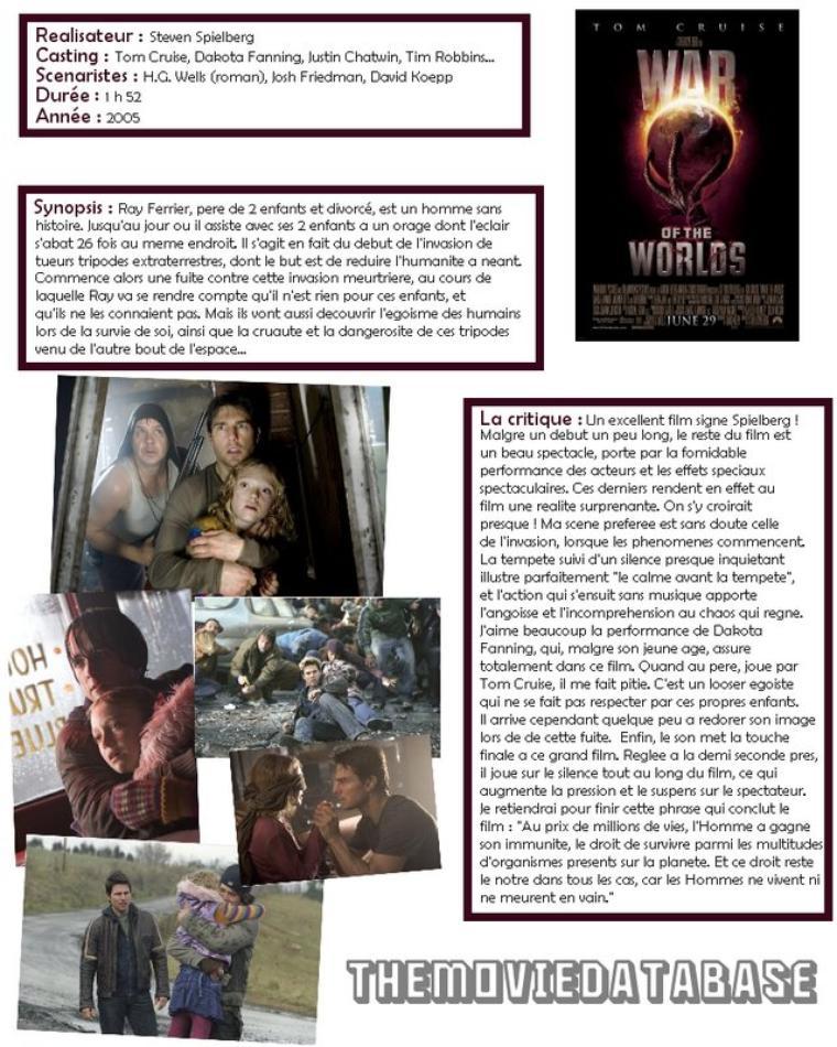 Film - La Guerre des Mondes