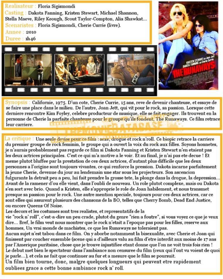 Film : The Runaways