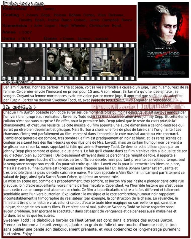 Film - Sweeney Todd, the Demon Barber of Fleet Street